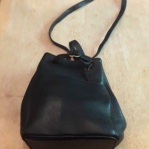 Vintage Coach Black Bucket Bag